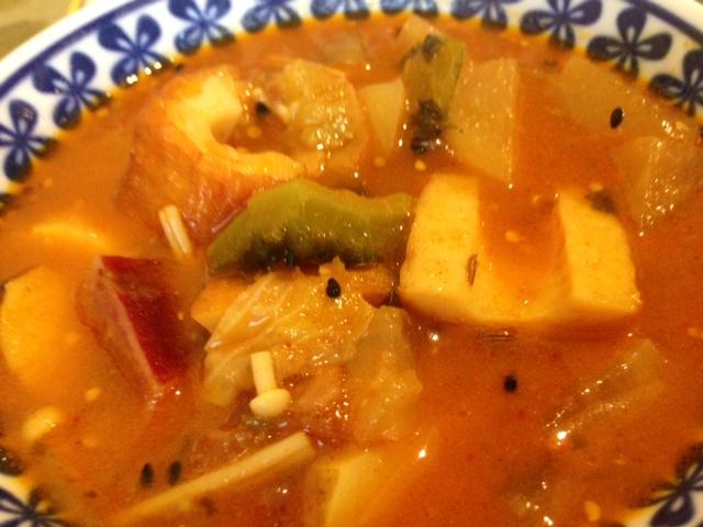 ガラムマサラチクワ野菜カレー