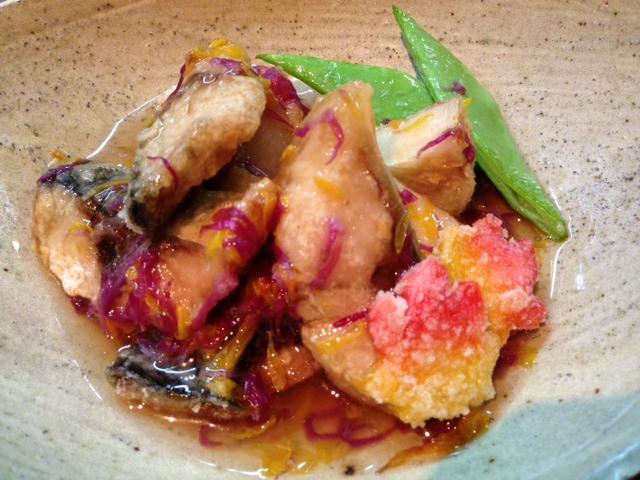 冬風邪魚ケン金華サバと京芋の揚げ出し